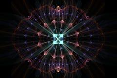 Emblème de fleur de l'espace Image stock
