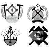 Emblème de géologie Photographie stock