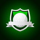 Emblème de golf de vecteur Images libres de droits