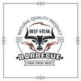 Emblème de gril de barbecue illustration de vecteur
