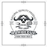 Emblème de gril de barbecue illustration stock