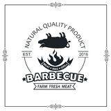Emblème de gril de barbecue illustration libre de droits