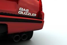 Emblème de gros buveur de gaz sur SUV Images libres de droits
