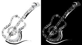 Emblème de guitare Photographie stock