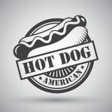 Emblème de hot-dog Image stock