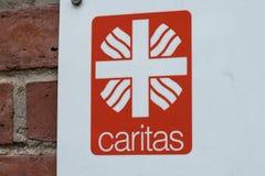 Emblème de l'association allemande Caritas Photo libre de droits