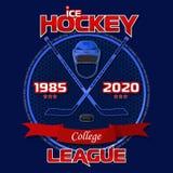 Emblème de la Ligue de Hockey illustration libre de droits