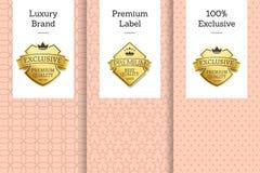 Emblème de la meilleure qualité d'exclusivité du label 100 de marque de luxe Photos libres de droits