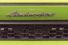 Emblème de Lamborghini sur l'affichage Photo libre de droits