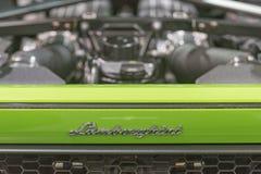 Emblème de Lamborghini sur l'affichage Photos libres de droits