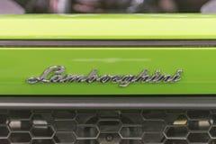 Emblème de Lamborghini sur l'affichage Photographie stock libre de droits