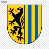 Emblème de Leipzig illustration stock
