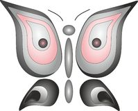 Emblème de liberté d'insecte de hibou de papillon Images libres de droits