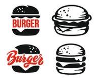 Emblème de logo d'hamburger illustration stock