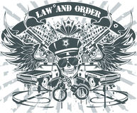 Emblème de loi et de commande image stock