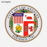 Emblème de Los Angeles illustration stock