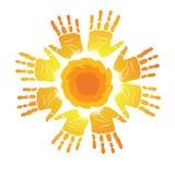 Emblème de main   Photo stock