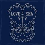 Emblème de mer Photo stock