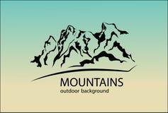 Emblème de montagnes Élément de conception illustration stock