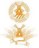 Emblème de moulin à vent Images stock