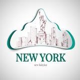 Emblème de New York City illustration stock