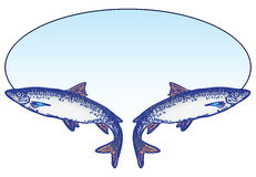 Emblème de pêche Images libres de droits