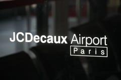 Emblème de Paris d'aéroport de JCDecaux photo libre de droits