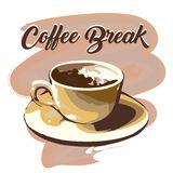 Emblème de pause-café illustration libre de droits