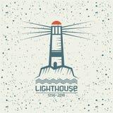 Emblème de phare Image libre de droits