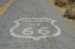 Emblème de Route 66 chez Seligman Photo stock