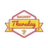 Emblème de salutation de vacances de jeudi saint Image libre de droits