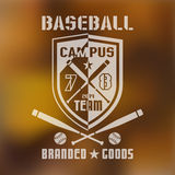 Emblème 1 de sport de base-ball Images stock