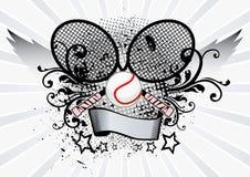 Emblème de sport de tennis Photographie stock