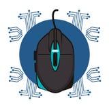 Emblème de techno de dispositif de souris de Gamer illustration de vecteur