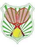 Emblème de tennis Photographie stock libre de droits