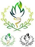 Emblème de torche Photographie stock