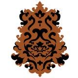 Emblème de vecteur dans le style classique avec des boucles illustration libre de droits