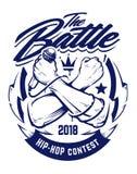Emblème de vecteur de hip-hop illustration de vecteur