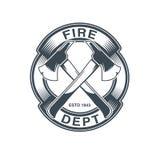 Emblème de vecteur de sapeurs-pompiers Photo stock