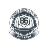 Emblème de vecteur de sapeurs-pompiers Photos libres de droits