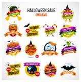 Emblème de vente de Halloween et ensemble de label illustration de vecteur