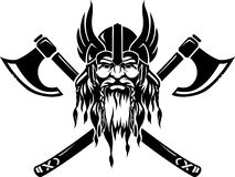 Emblème de Viking illustration stock