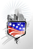 Emblème des USA illustration de vecteur