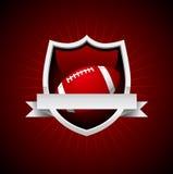 Emblème du football de vecteur Image libre de droits