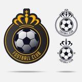 Emblème du football ou insigne Logo Design du football pour l'équipe de football Images stock