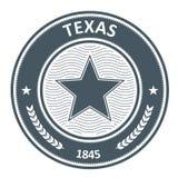 Emblème du Texas - timbre avec l'étoile Photographie stock