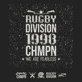 Emblème et icônes d'équipe de rugby d'université Image libre de droits