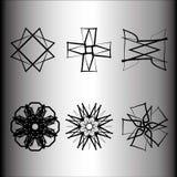 Emblème géométrique d'astrologie de pentagone étoilé d'étoile d'icône de modèle Images libres de droits