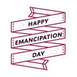 Emblème heureux de salutation de jour d'émancipation Photographie stock libre de droits