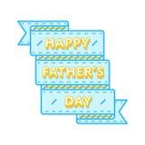 Emblème heureux de salutation de jour de pères Photos libres de droits